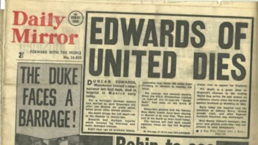 duncan edwards daily mirror