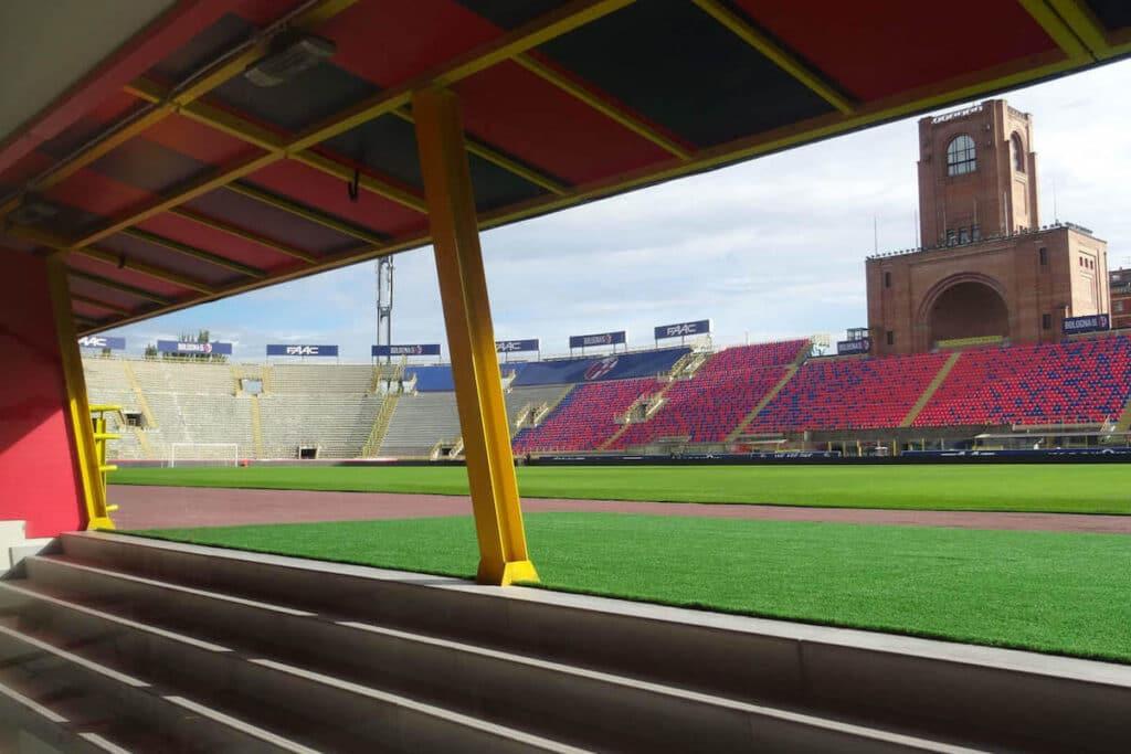 stadio bologna ingresso sul campo