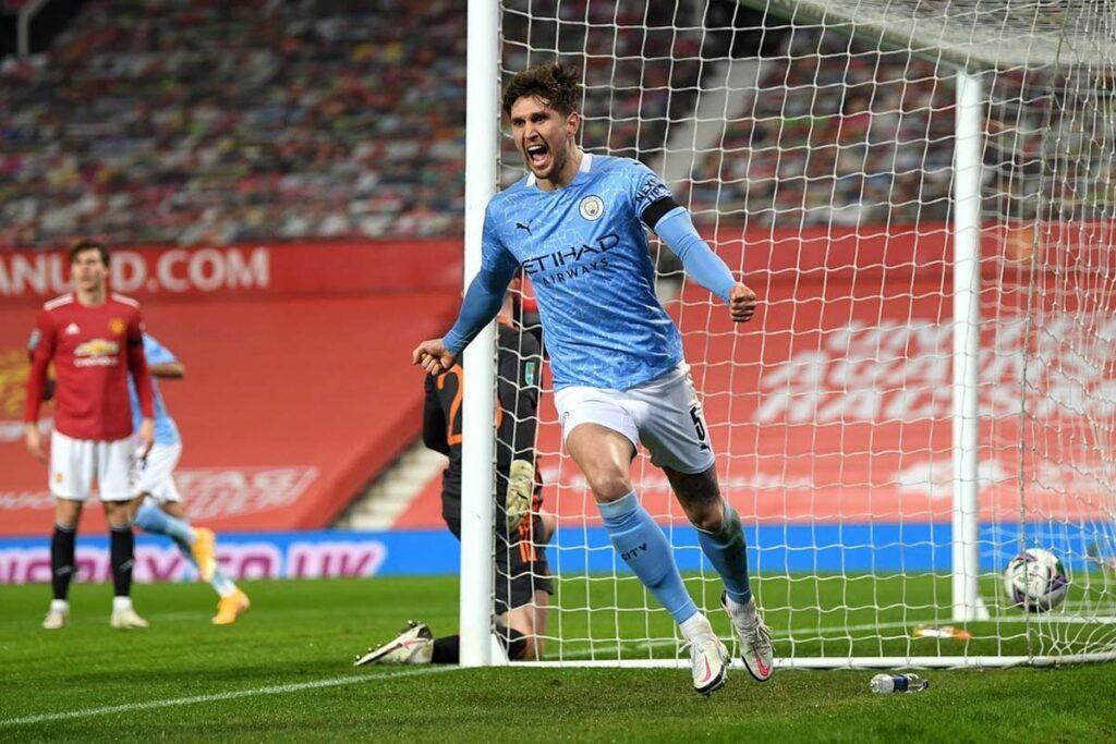 john stones manchester city gol derby