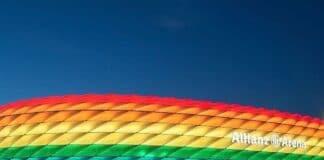allianz arena arcobaleno