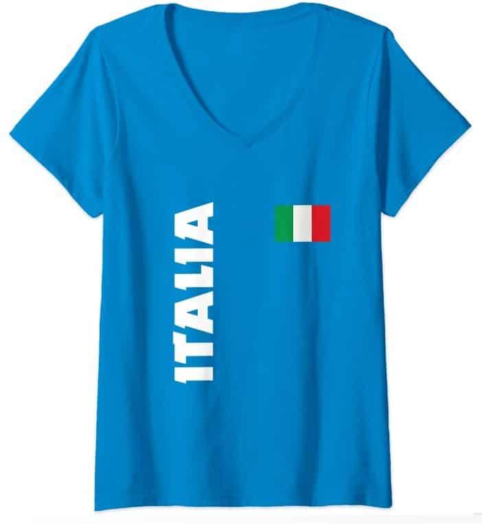 maglia italia collo a v