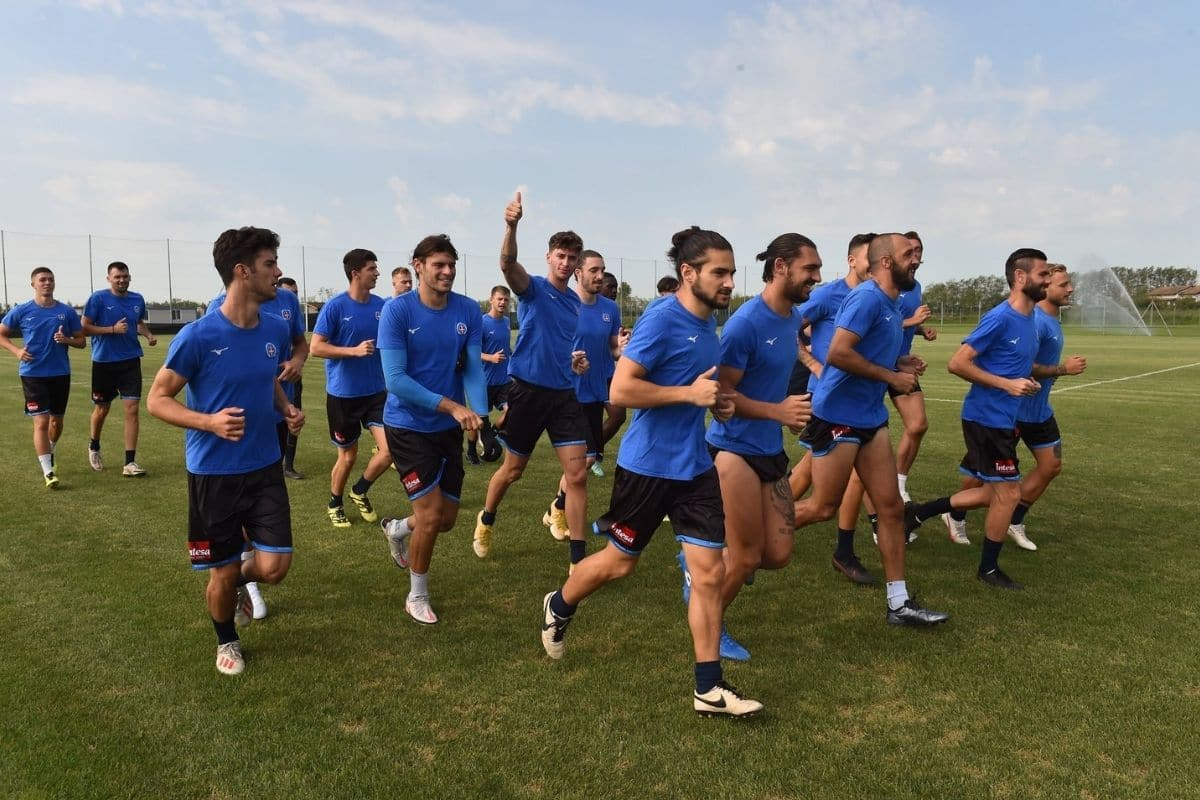novara calcio allenamento